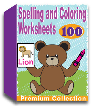 Spelling and Coloring Worksheets - Write, Color, Cut and Paste 100 Words!