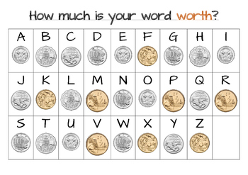 Spelling and Decimal Activity - How much is your word worth