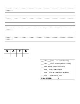 Spelling and Dictation Assessment