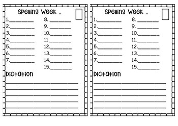 Spelling and Dictation Booklet
