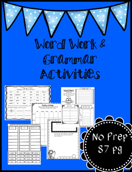 Word Hunt -Phonics,  Spelling and Grammar Word Work 84 pages.