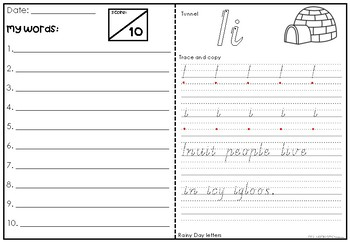 Spelling and Handwriting Test Booklet