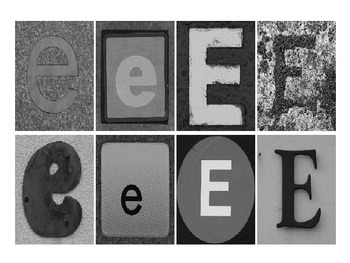 Spelling and Letter Recogniton: Photograph Letters