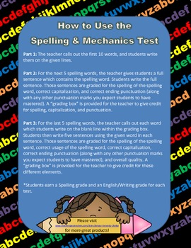 Spelling and Mechanics Test