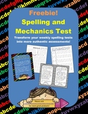 Spelling and Mechanics Test
