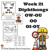 Diphthongs: OW, OU, OO, OI, and OY | Phonics Activities | Phonics Games