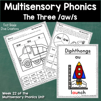 Spelling and Phonics Activities for 1st Grade Week 22-Diphthongs