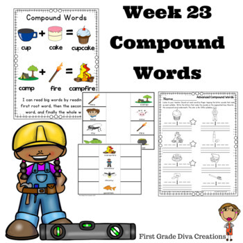 Spelling and Phonics Activities for First Grade Week 23-Compound Words