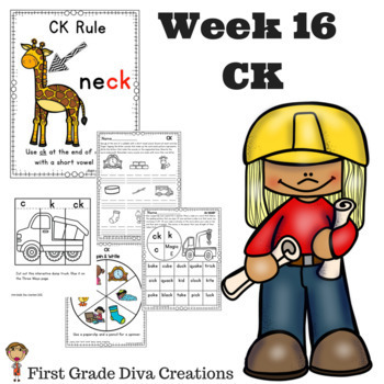 CK at the End of a Syllable | Phonics Activities | Phonics Games