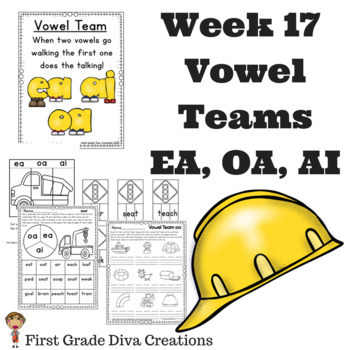 Spelling and Phonics Activities for 1st Grade Week 17-Vowel Teams: EA, OA, & AI
