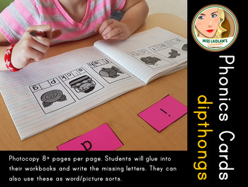 Spelling and Phonics - Dipthongs - Word Work Center