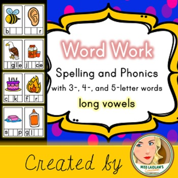 Spelling and Phonics - Long Vowel - Word Work Center