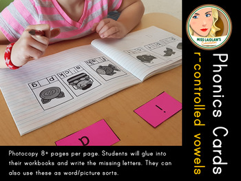 Phonics - R-Controlled Vowels - Word Work Center