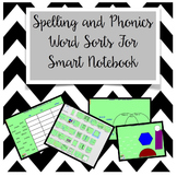 Spelling and Phonics Word Sorts for Smart Notebook Software
