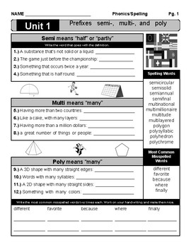 Spelling and Phonics Word Study Unit