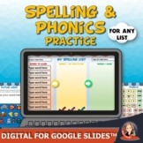 Spelling and Phonics Word Work for Distance Learning