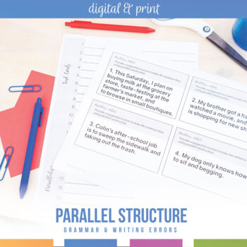 Grammar Errors: Writing Parallel Structure, Parallelism in Student Writing