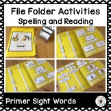 File Folder for Spelling and Reading Primer Sight Words