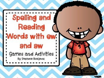 Spelling and Reading Words with ew and aw