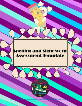 Spelling and Sight Word Assessment Template