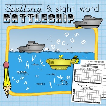 Spelling and Sight Word Battleship