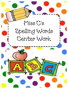 Spelling and Sight Word Centers
