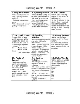 Spelling and Sight Words Activities