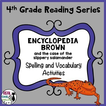 Spelling and Vocab Activities:Encyclopedia Brown (Slippery