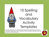 Spelling and Vocabulary Activity Templates (Gnome)