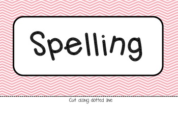 {Freebie!} Spelling and Vocabulary Banner / Header - Chevron