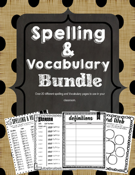Spelling and Vocabulary Bundle