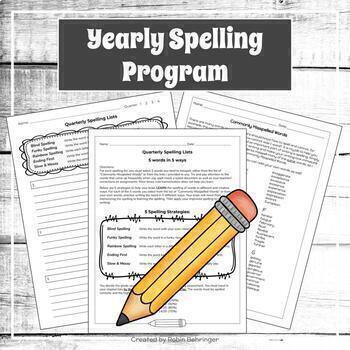 Spelling and Vocabulary Lists and Activities | Editable and Digital