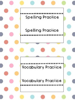 Spelling and Vocabulary Notebook (FREEBIE)