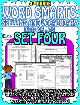 Spelling and Vocabulary {SET FOUR}