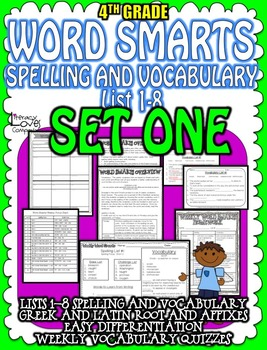 Spelling and Vocabulary {SET ONE}