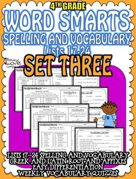 Spelling and Vocabulary {SET THREE}