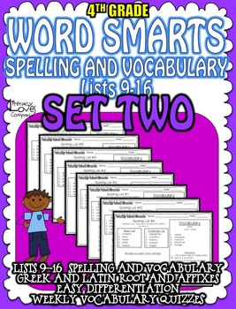 Spelling and Vocabulary {SET TWO}
