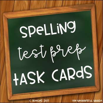 Spelling and Vocabulary Test Prep Task Cards