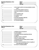 Spelling and Vocabulary Tests - 14 Lists