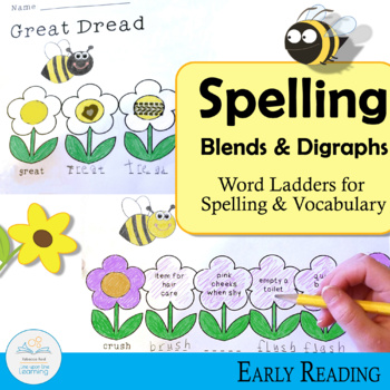 Spelling and Vocabulary Blends and Digraphs Word Ladders