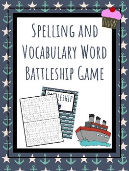 Spelling and Vocabulary Words Battleship Game