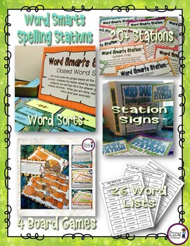 Spelling and Vocabulary 4th Grade - Year Long Resource