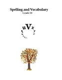 Spelling and Vocabulary -grade 10 level 2