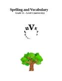 Spelling and Vocabulary - grade 11: level 1  (university)