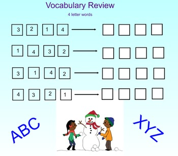 Spelling and Vocabulary scramble review