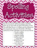 Spelling and Word Study Activities Part 2