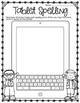 Spelling and Word Work Activities