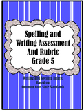 Spelling and Writing Assessment with Rubric Grade 5