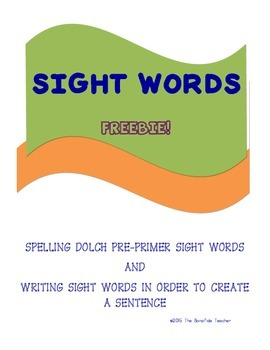 Spelling and Writing Sight Words