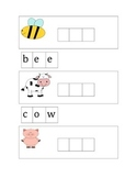 Spelling animal cards